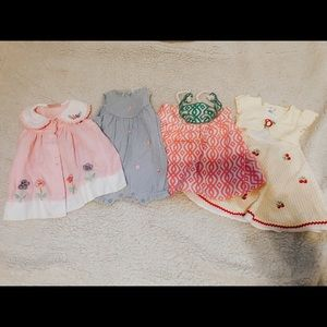 Lot of 4 baby summer dresses